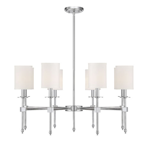 Kate Polished Nickel 34-Inch Eight-Light Chandelier