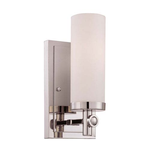 Castor Polished Nickel 10-Inch One-Light Wall Sconce