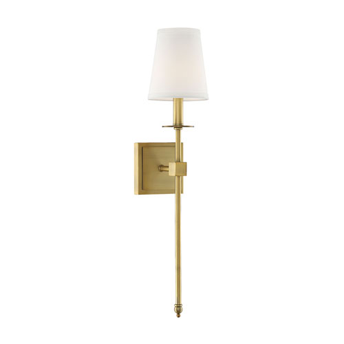 Linden Polished Brass Five-Inch One-Light Wall Sconce
