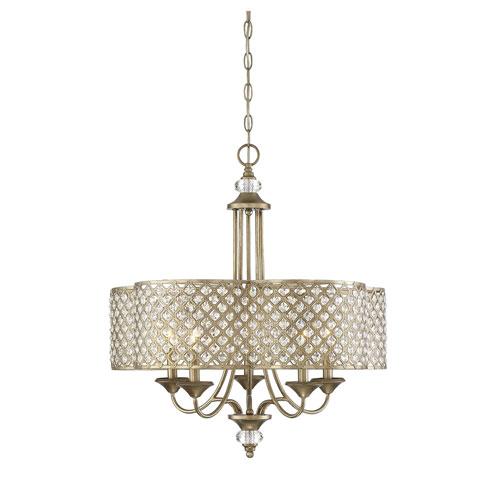 Leighton Gold 25-Inch Five-Light Chandelier