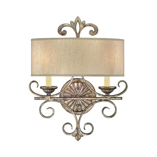 Webster Oxidized Silver 15-Inch Two-Light Wall Sconce