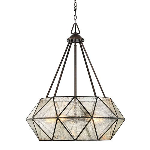 Uptown Oiled Burnished Bronze 28-Inch Five-Light Pendant