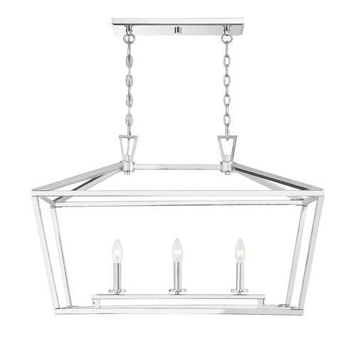 Anna Polished Nickel 16-Inch Three-Light Pendant