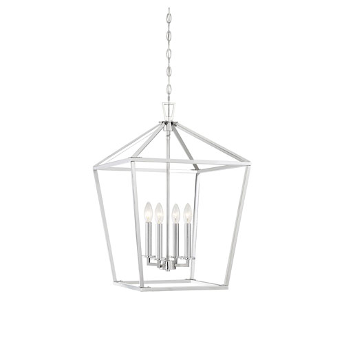 Anna Polished Nickel 17-Inch Four-Light Pendant
