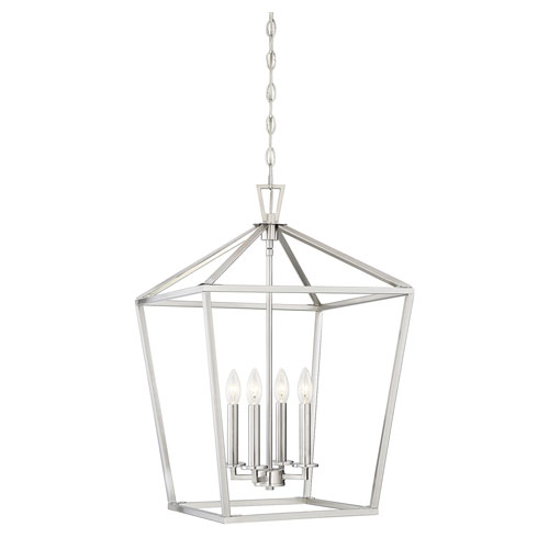 Anna Brushed Nickel 17-Inch Four-Light Pendant
