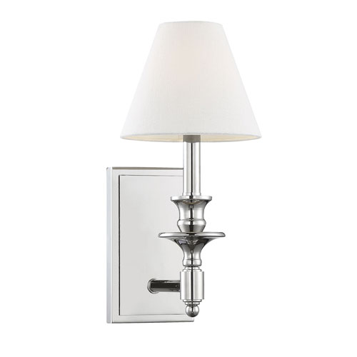 Preston Polished Nickel Seven-Inch One-Light Wall Sconce