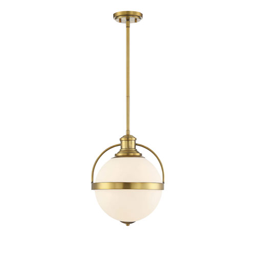 Madison Polished Brass 13-Inch One-Light Pendant