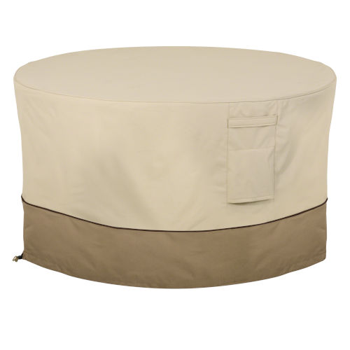 Ash Pebble and Bark Round Patio Fire Pit Table Cover