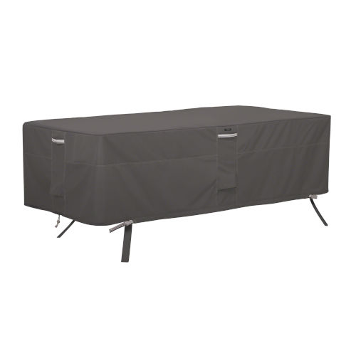 Maple Dark Taupe Rectangular Patio Table Cover with Water Resistant Fabric