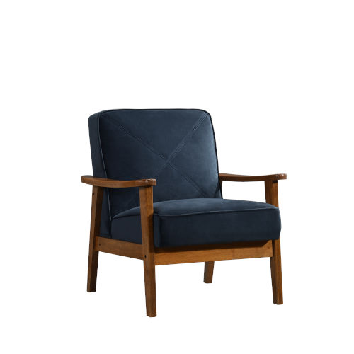 Selby Navy and Honeycomb Accent Chair