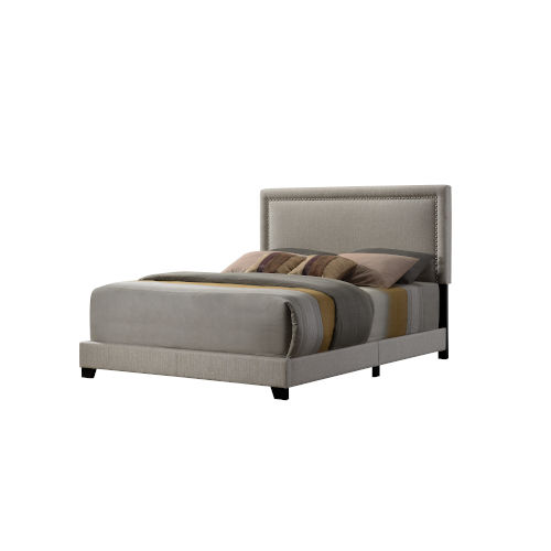 Linden Beige King Upholstered Bed