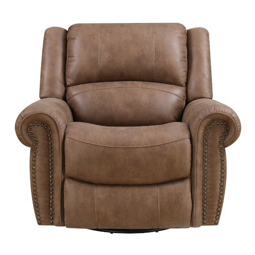Selby Brown Swivel Reclining Glider