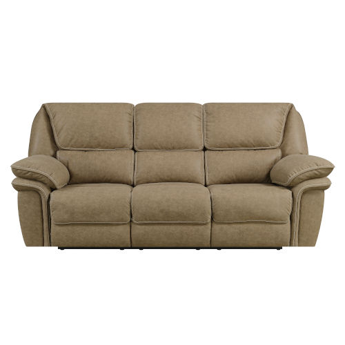 Selby Desert Sand 92-Inch Power Reclining Sofa with USB Charging Station