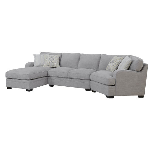 Cooper Linen Gray Sectional Sofa