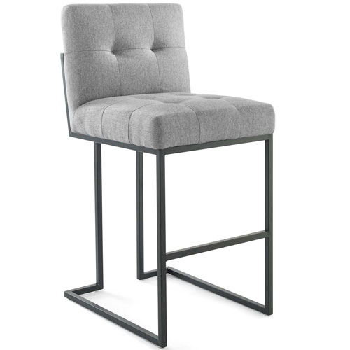 Uptown Black and Gray Bar Stool