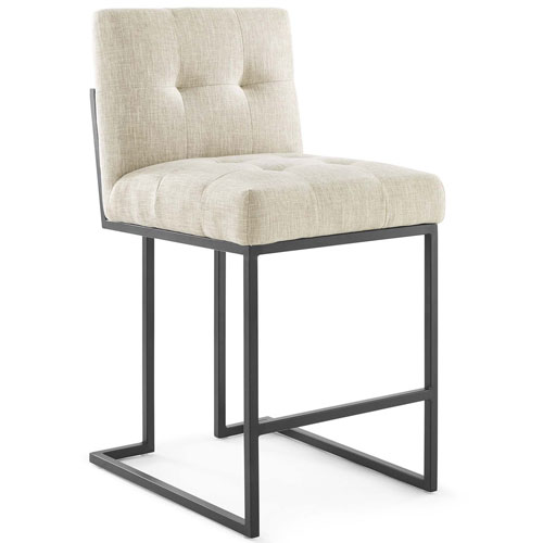 Uptown Beige and Black Counter Stool