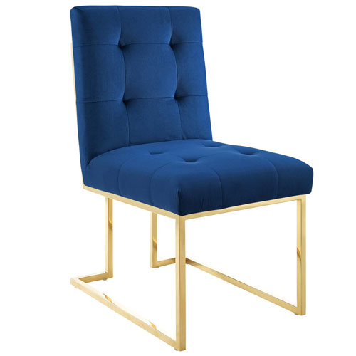 Cooper Gold and Navy Dining Chair