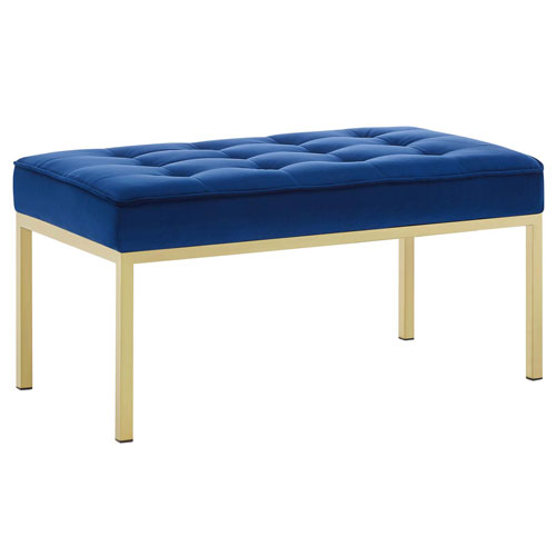 Monroe Gold and Navy Bench