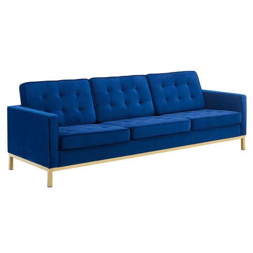 Cooper Gold and Navy Sofa