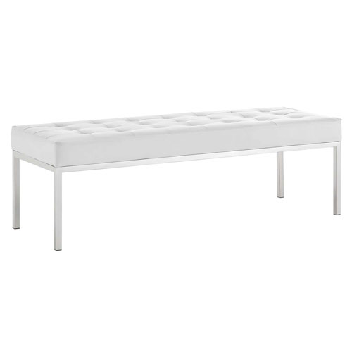 Cooper Silver and White Bench