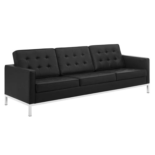 Uptown Silver and Black Sofa