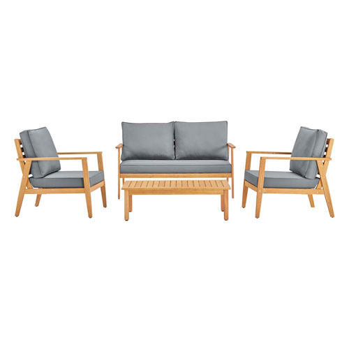 Darren Natural and Gray Outdoor Furniture Set