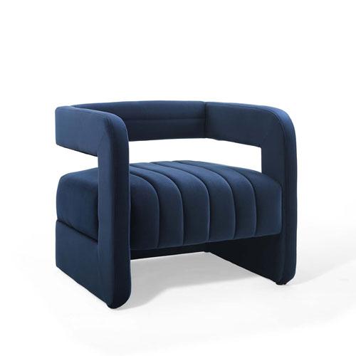 Vivian Navy Armchair