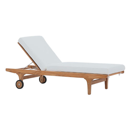 Roat Natural and White Outdoor Patio Chaise