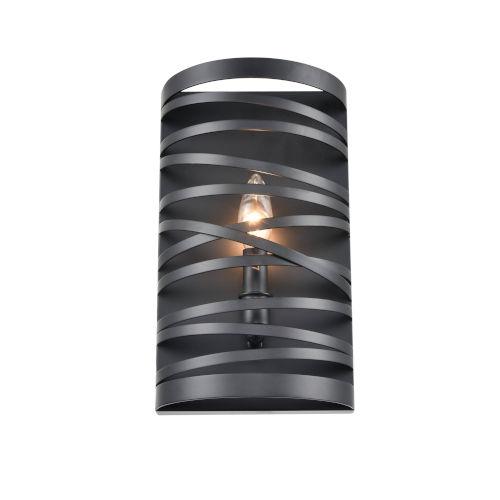 Castor Matte Black Seven-Inch One-Light Wall Sconce