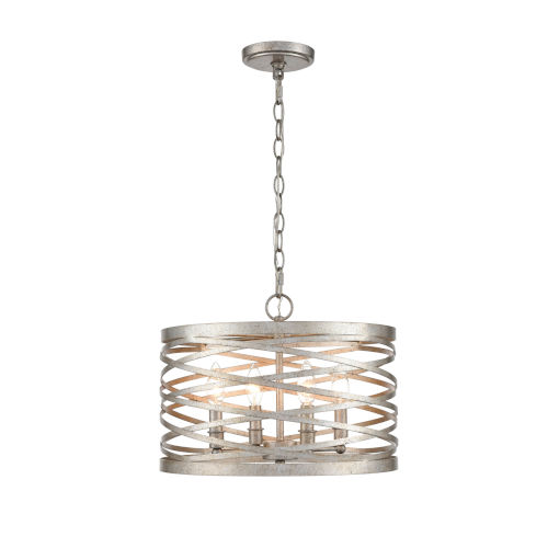Castor Antique Nickel 16-Inch Four-Light Pendant