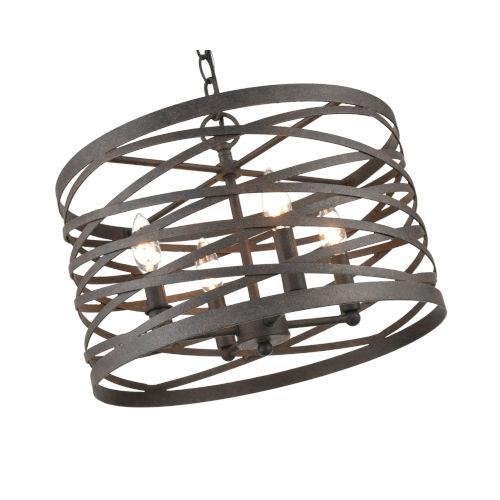 Castor Weathered Iron 16-Inch Four-Light Pendant