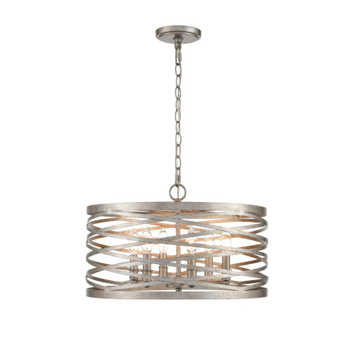 Castor Antique Nickel 20-Inch Six-Light Pendant