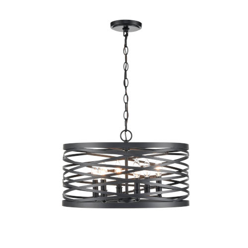 Castor Matte Black 20-Inch Six-Light Pendant
