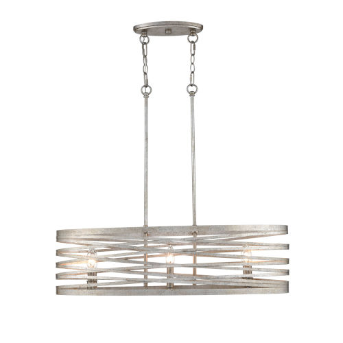 Castor Antique Nickel 12-Inch Six-Light Island Pendant