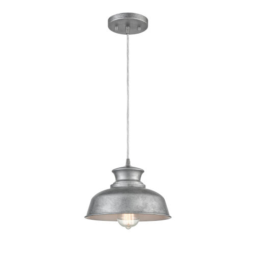 Hayes Galvanized 14-Inch One-Light Pendant