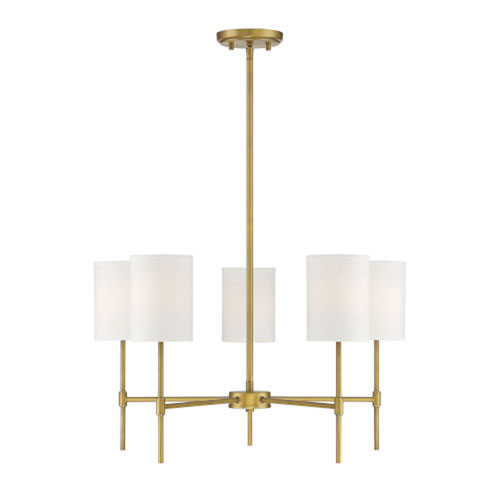 Kate Natural Brass Five-Light Chandelier