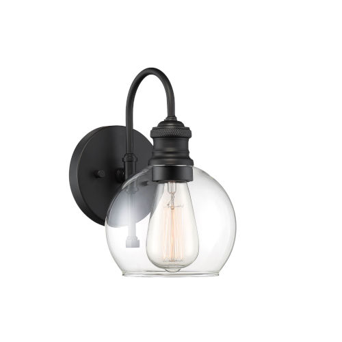 Bryant Matte Black One-Light Outdoor Wall Sconce