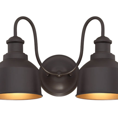 Lex Oil Rubbed Bronze Two-Light Outdoor Wall Sconce