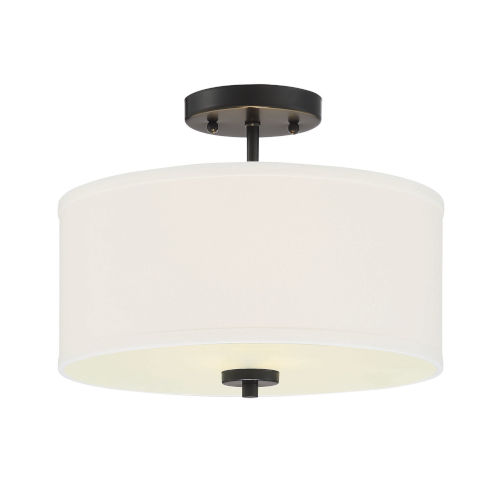 Selby Matte Black Two-Light Semi Flush Mount