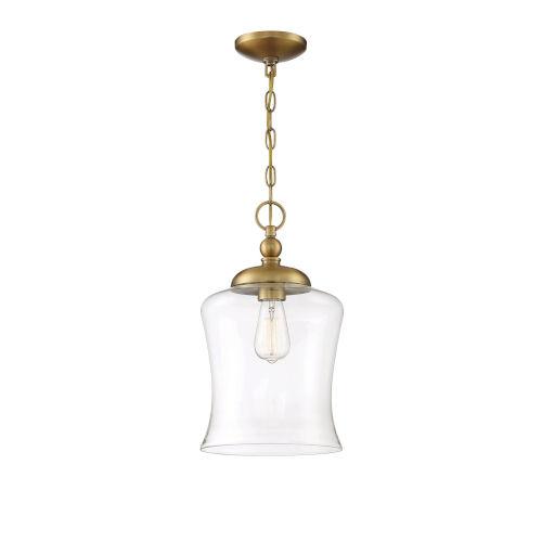 Nora Natural Brass One-Light Mini Pendant