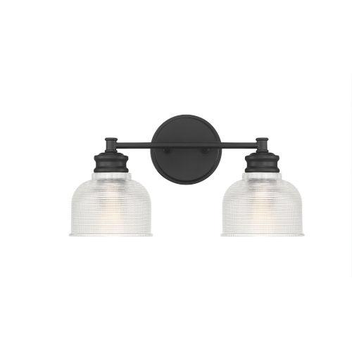 Eloise Matte Black Two-Light Bath Vanity