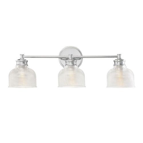Eloise Chrome Three-Light Bath Vanity