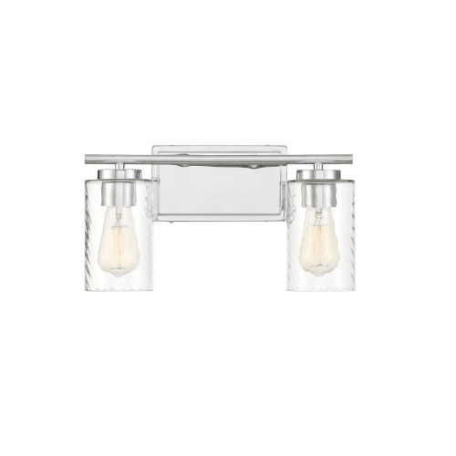 York Chrome Two-Light Bath Vanity