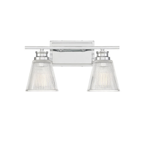 Nora Chrome Two-Light Bath Vanity