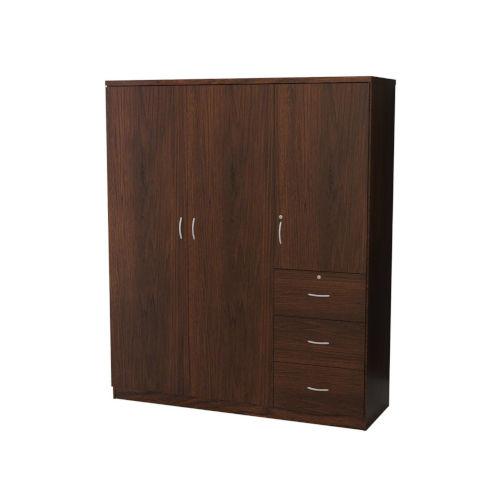 Uptown Walnut Three-Cabinet Three-Drawer Cabinet