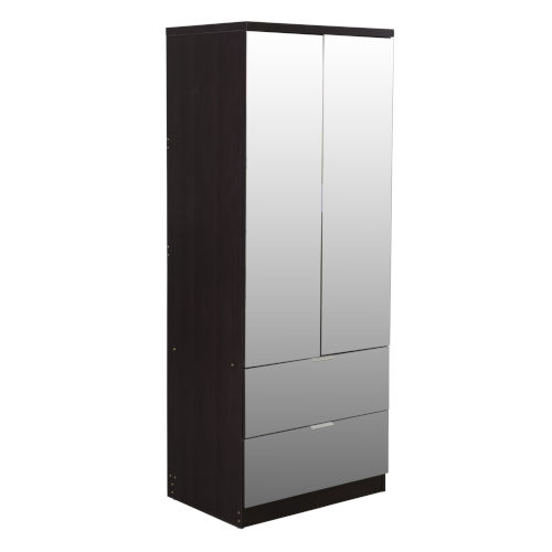Uptown Espresso Mirrored Wardrobe