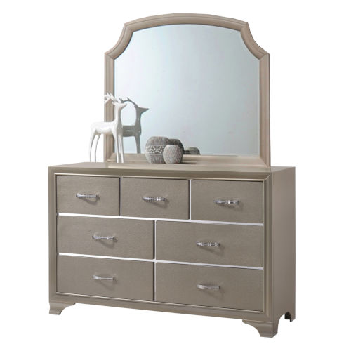 Whittier Champagne Dresser with Mirror