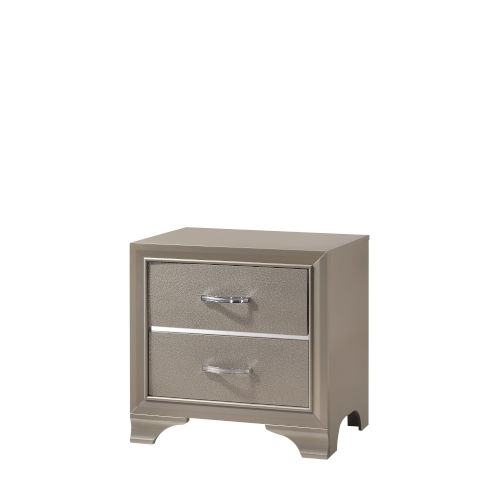 Whittier Champagne Two-Drawer Nightstand