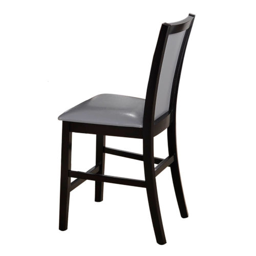 Linden Espresso with Gray Side Chair, Set of Two
