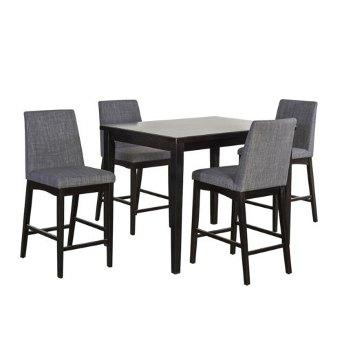 Selby Espresso Five-Piece Counter Height Dining Set